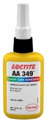 Muestra el envase del adhesivo Loctite AA 349