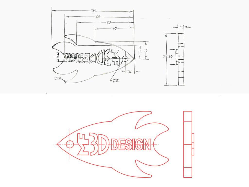 Convertir boceto a pieza vectorizada o CAD 2D