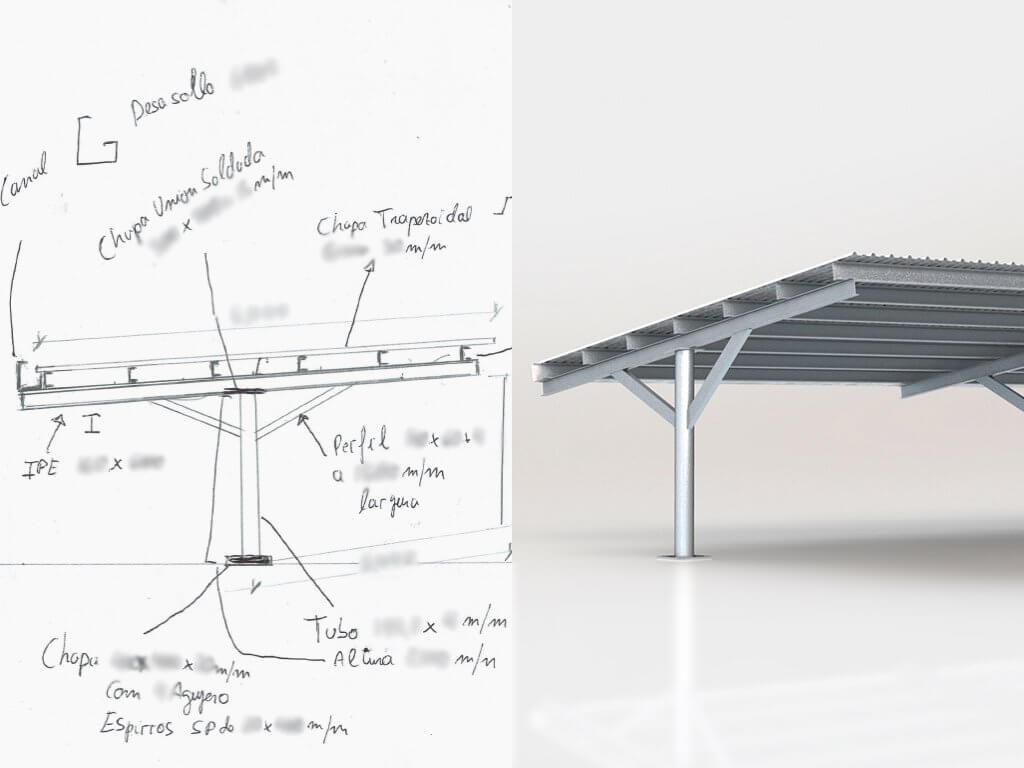 Servicio para convertir un boceto, esquema o croquis a 3D