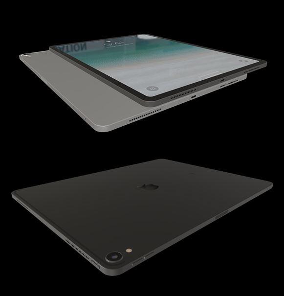 Vista colores del modelo 3D del iPad Pro 2018