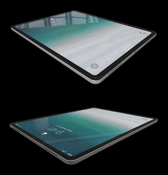 Vista perspectiva del modelo 3D del iPad Pro 2018