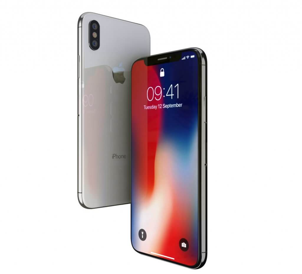 Vista frontal iPhone X para descargar el archivo 3D del iPhoneX