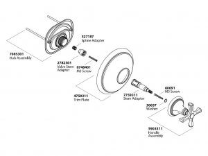Ilustración vectorial para despiece para manual técnico
