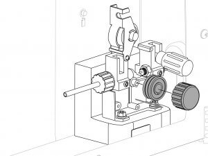 Detalle de maquina para manual de instrucciones con formato vectorial