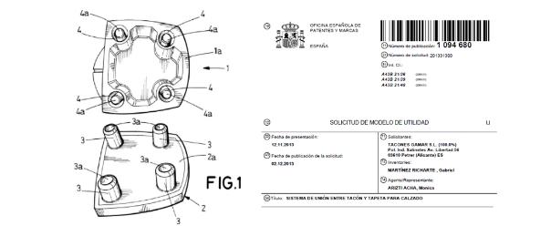 Ejemplo de registro de patente