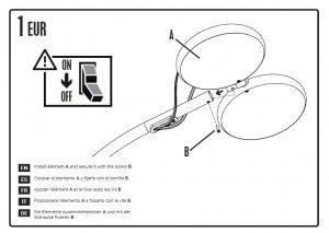 Detalle de diseño de manual de instrucciones