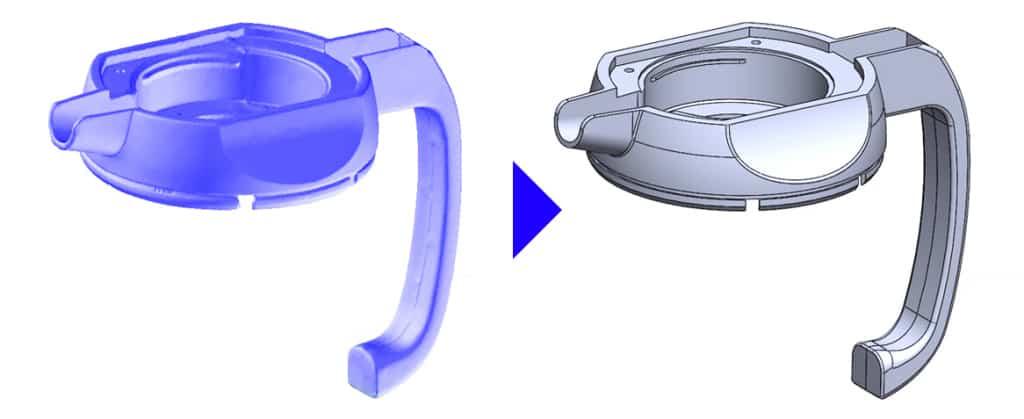 Ejemplo de pieza escaneada a 3D