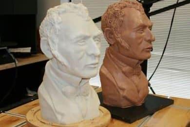 Escultura escaneada en 3D e impresa una copia exacta
