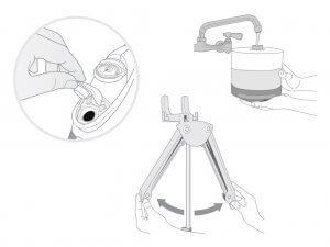 Ilustración técnica para folleto de producto