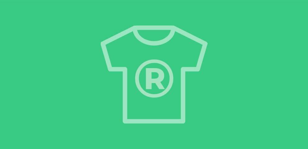 Servicio de registro de diseño de ropa, complementos, camisetas, zapatos o bolsos