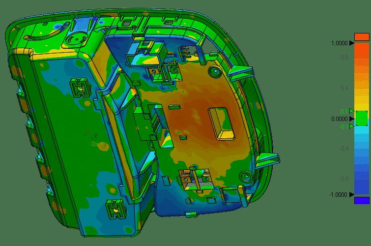 Validación entre el archivo escaneado en 3D y el original en formato CAD